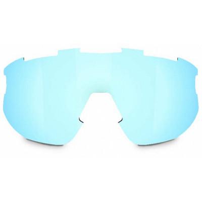 Линза к очкам BLIZ модели Matrix Smallface, серая с голубым мультинапылением